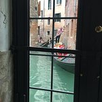 You can see the gondoliers from the breakfast nook as well.