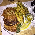 Baked Walleye and Potato pancakes to die for!!!