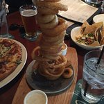tower of onion rings were the best!