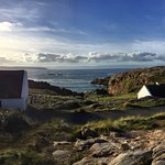 Our amazing cottage and outside the Lobster Pot!