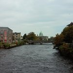 Hotel is on the River Corrib and the Galway West End is on the other side.
