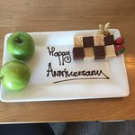 Anniversary surprise from hotel