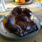 Burnt Yorkshire on my husbands plate