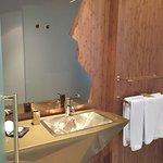 bathroom with golden sink