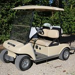 Hotel golf cart, moves guests to/from Lookout Point.