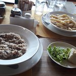 The amazing risotto and the pasta