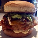 The Wisconsin Outlaw burger. A one of a kind burger found only at The Cornerstone