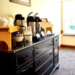 Complimentary coffee bar at breakfast