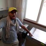 lavando y secando