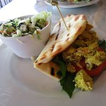 Yellow Curry Chicken Salad Sandwich with Cole Slaw