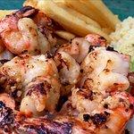 Garlic and breaded shrimp