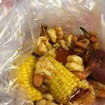 Shrimp boil with corn and potato