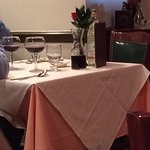 the couple across the way had a carafe of house red.