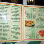Menu items (prices in Mexican pesos)