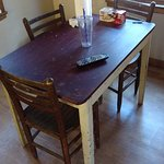 """A chipped up scratched up table is not what I call """"rustic"""""""