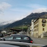 View in front of Hotel toward Gotthard pass.