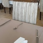 The seats in de restaurant and the cutlerly coverd with birdpoop... and  a toilet with a dirty
