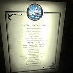 Menu, Petrossian, Belagio, Las Vegas, Nv