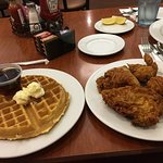 Sausage medley, chicken and waffles not on menu