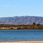 Views of the Spencer Gulf and the Flinders Ranges from the tourist park