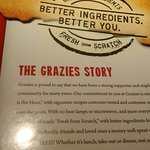 Grazies menu cover