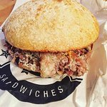 My delicious Porchetta sandwich.