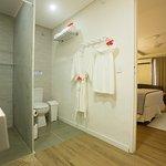 banheiro apartamento tipo varanda master.
