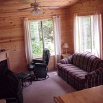 Living room in Cabins 12 & 14