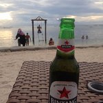 Cold beer by the beach