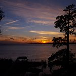 Sunset on Currituck Sound from our balcony