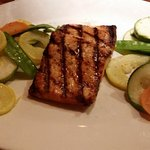 Grilled salmon with double veggies, no mashed potatoes