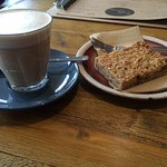 Latte and Apricot Flapjack