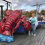 Giant lobster out side