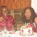 Celebrant with birthdaycake