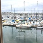 View from the dining room onto the marina