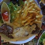 Onglets de boeuf sauce roquefort / frites Huuuum