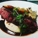 Vegetarian plate... filet, red wine port veal sauce