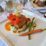 Beautifully plated salmon