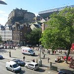 View from the upstair's guest lounge area over Grassmarket.