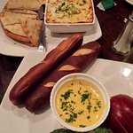Love the beer cheese dip appetizer!  (front)