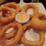 Onion rings, I would skip them next time. Tempura style.
