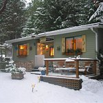 Winter is a great time to get away from the city and relax with a good book in a cozy cottage.