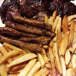 Horse medallions and sausages