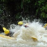 Level 2 and (maybe 3) rapids. Rainy season right now - higher water levels, less rapid