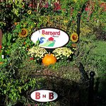 Barnard House Sign in early fall