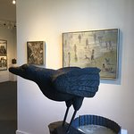 "Cabot Lyford's ""Raven"" overseeing exhibition ""Various Shades of Grey"" through November 13th"