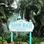 The sign for Tarpon Beach Condominium
