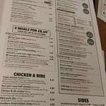 The Clothiers Arms Yeadon Menu Oct 2016