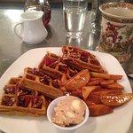 Fab pumpkin waffles at Penelope!