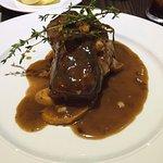 Venison steak with potatoes